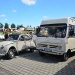 Citroen 2 CV und Wohnmobil Opel Bedford Blitz 2,3 L