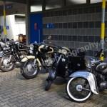 Motorräder, Mofas, Monkeys und Motorroller bekamen eine Extra-Stellfläche im Strandbad