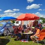 Fröhliche Wohnwagenidylle beim Hymer Museumsfest 2017