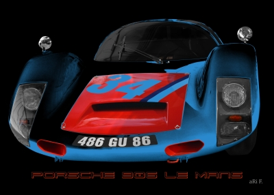 Porsche 906 Le Mans Art Car by ari F.