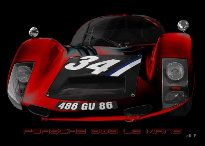 Porsche 906 Le Mans 1966 Art Car aRi F. in Langenargen