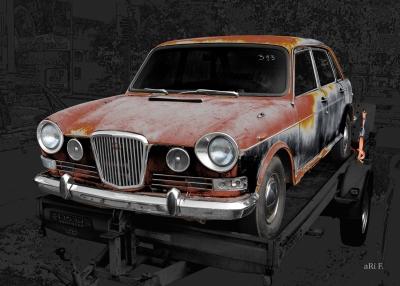 Wolseley 18/85 Mk 2 or Austin 1800 Art Car by aRi F.