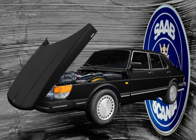 Saab 900 Limousine Poster advert Reklame