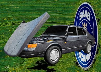 Saab 900 Limousine Art Car