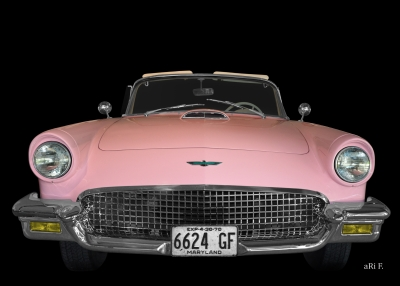 Ford Thunderbird Poster in Pop-Art pink