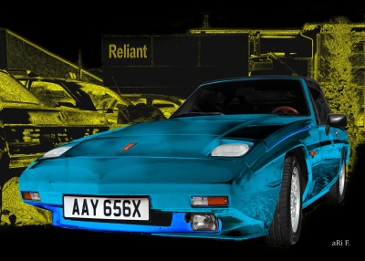Reliant Scimitar SS1 Poster Art Car by aRi F.
