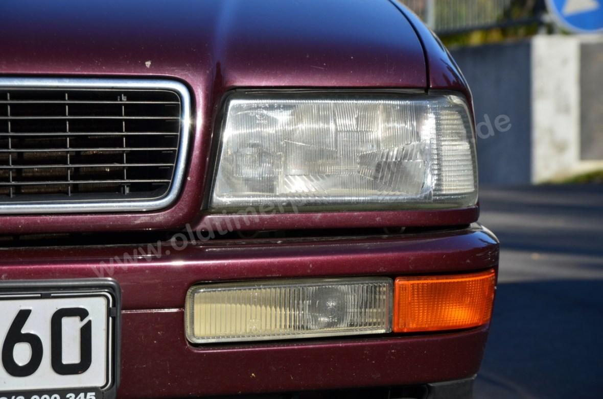Audi 80 Cabrio Frontdetail Blinker und Scheinwerfer