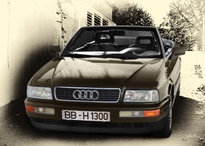 Audi 80 Cabriolet Frontansicht in Antique Stil for sale