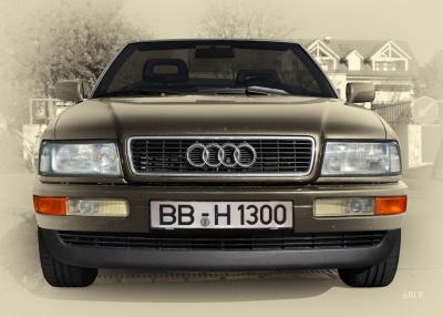 Audi 80 Cabriolet Frontansicht in Vintage Style by ari F. in Langenargen