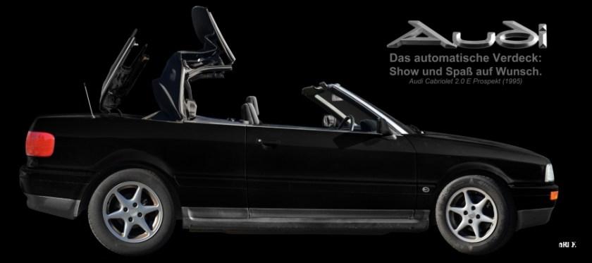 Audi 80 Cabriolet (1991-2000) with Advertising/publicité/Werbung