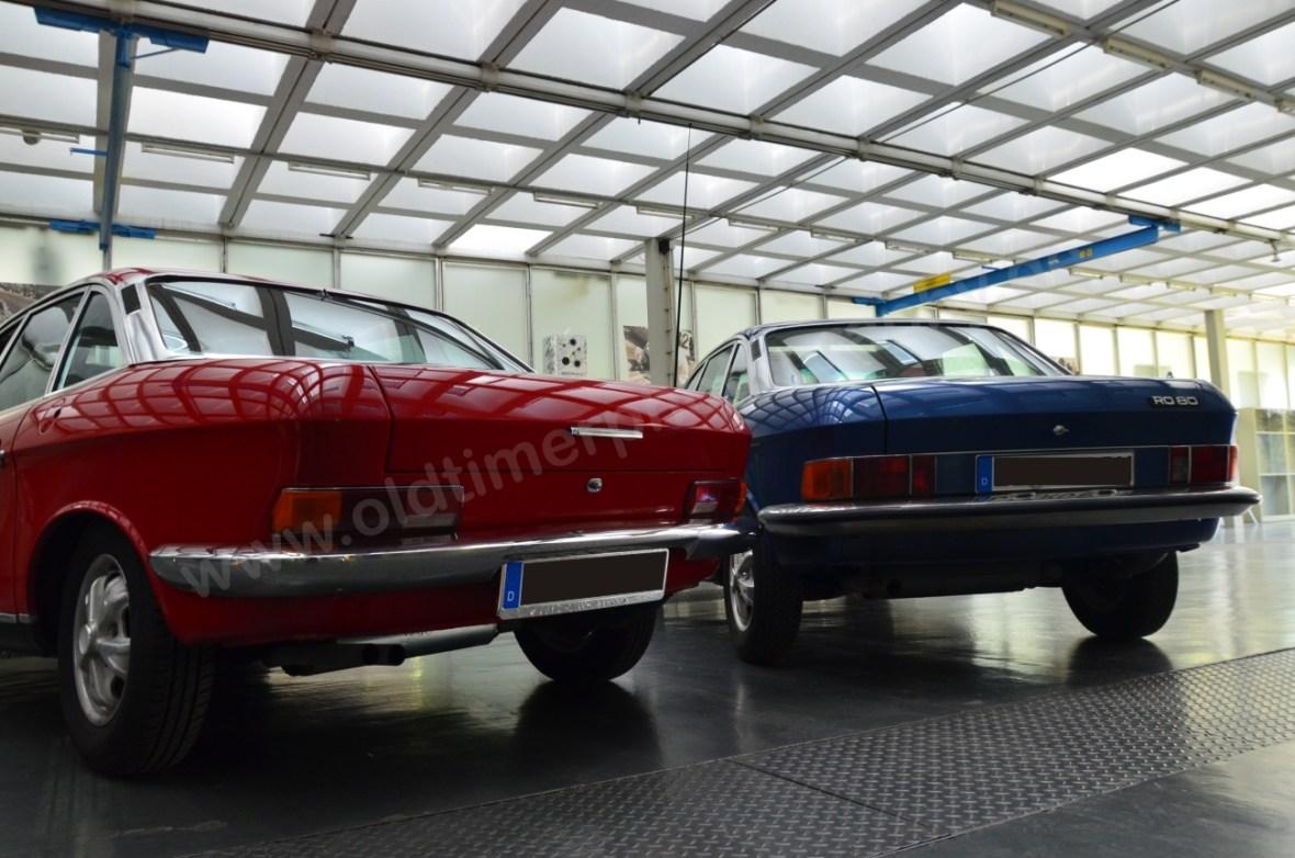 NSU Ro 80 in rot von Baujahr 1972 in blauer Farbe von 1975