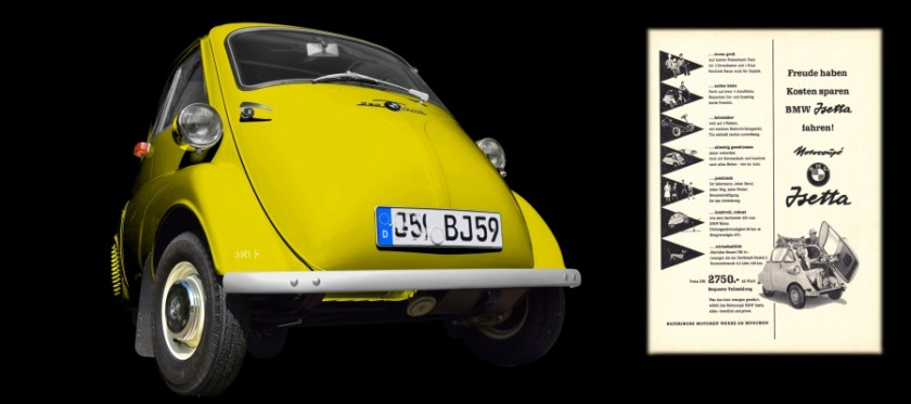 BMW Isetta 250 Poster Bilder new created by aRi F.