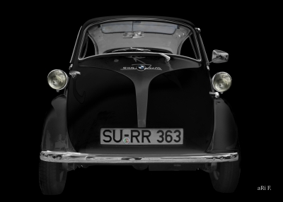 BMW Isetta 250 Poster in darkblack by aRi F.