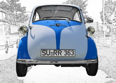 BMW Isetta 250 Poster in Frontansicht / front view