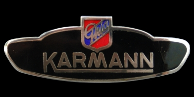 Logo Karman Ghia auf Typ 14 Baujahr 1971