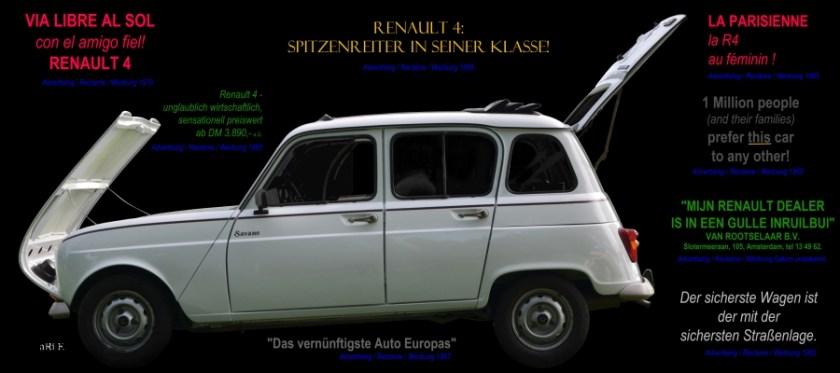Renault 4 Advertising / Reclame/ Publicidad / Werbung