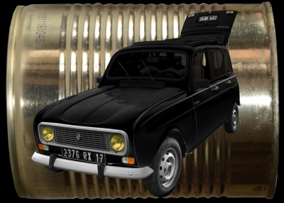 Renault 4 in black & gold dosage
