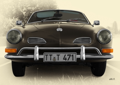 VW Karmann-Ghia-Typ 14 in Antique Vintage