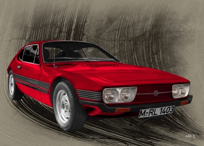 VW SP2 (1972-1976) front view Poster
