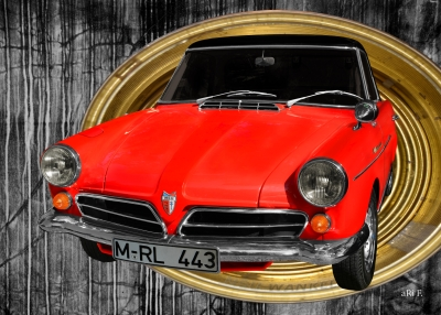NSU Wankel Spider in red in golden dosage