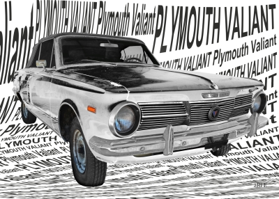 Plymouth Valiant Signet aRt car car shooting