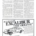 Excalibur Series IV Phaeton Advertisment 1984