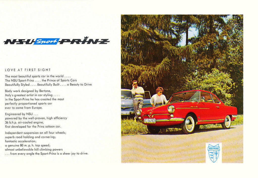 NSU Sport-Prinz Werbung der NSU Automobilwerke AG in english 02