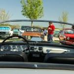Opel Kadett A Spider Armaturen und offenem Verdeck