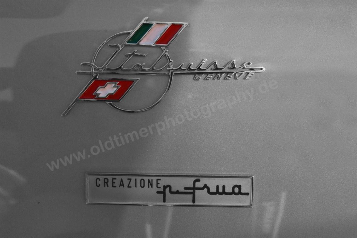 Opel Kadett A Spider mit Logos von Pietro Frua seitlich auf Kotflügel
