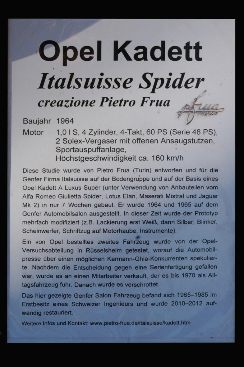 Opel Kadett A Spider technische Daten und Historie