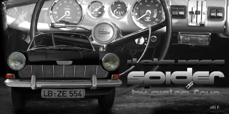 Opel Kadett A Spider Italsuisse in black & white view