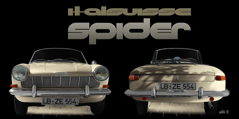 Opel Kadett A Spider in double view antique