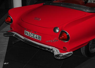 Auto Union 1000 Sp rear view in red
