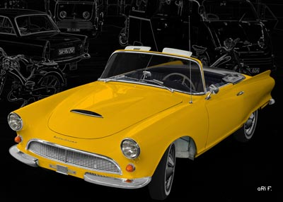 Auto Union 1000 Sp Roadster in yellow