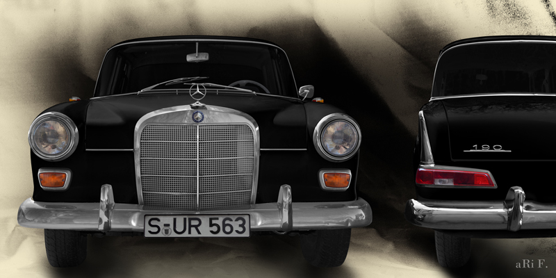 Mercedes-Benz W 110 double view in black