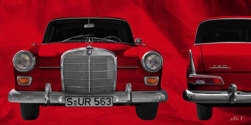 Mercedes-Benz W 110 double view in red