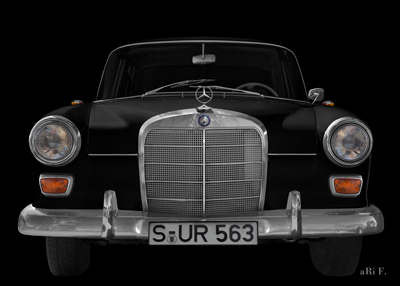 Mercedes-Benz 190 W 110 Heckflosse in black front