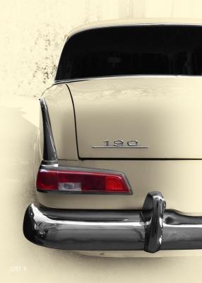 Mercedes-Benz W 110 Heckdetail in antique