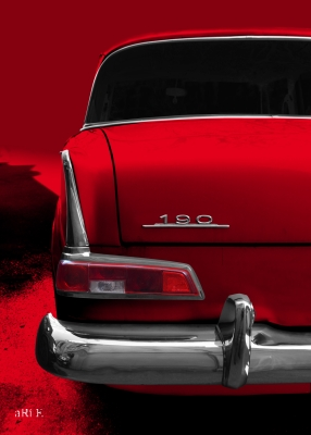 Mercedes-Benz W 110 Heckdetail in red color