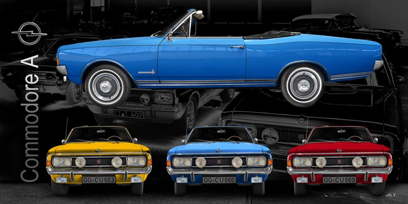 Opel Commodore A Cabriolet in all colors