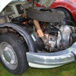 Panhard PL 17b Motorraum mit 850 ccm und 42 PS Leistung