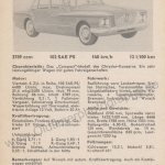Plymouth Valiant technische Daten
