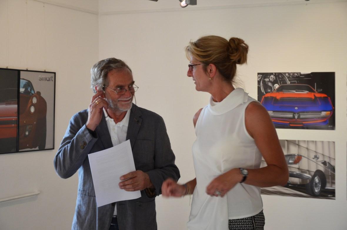 Günther H. Schulze und Dagmar Frick die ebenfalls bei und während der Ausstellung mitgeholfen haben