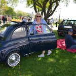 Fiat 500 in der Picknickpause