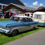Ford Taunus 17m de Luxe auf dem Freigelände speziell für die Camper
