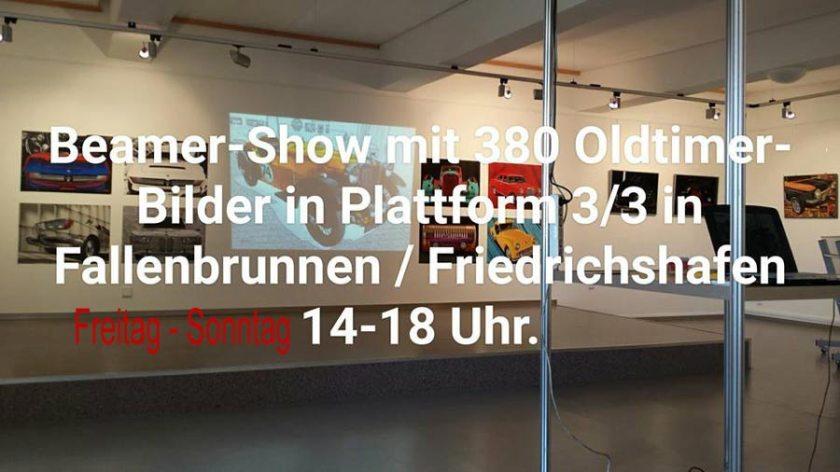 Galerie Plattform 3/3 Beamer-Show mit 380 Oldtimer-Kunstbilder by aRi F.