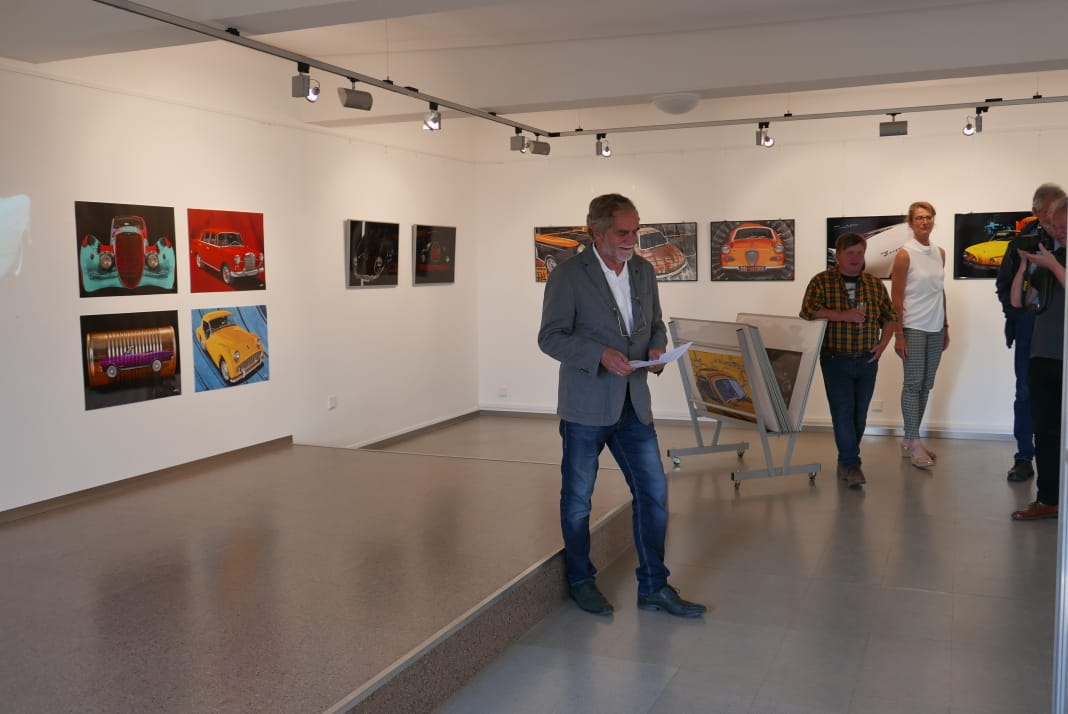 Günther H. Schluze, auch Fotograf wie ich bei der Einführung