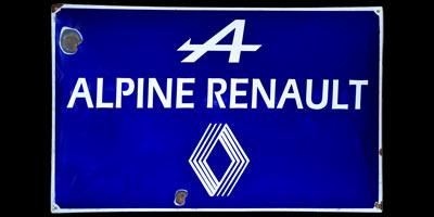 Renault Alpine Original-Emailleschild