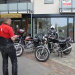 Motorräder vor der Galerie Steinberger/Langenargen