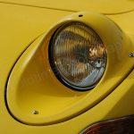 Opel GT Frontansicht mit geöffnetem Klappscheinwerfer